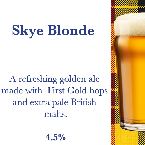 Skye Blonde Beer | Kiltin' Brewpub Grenoble
